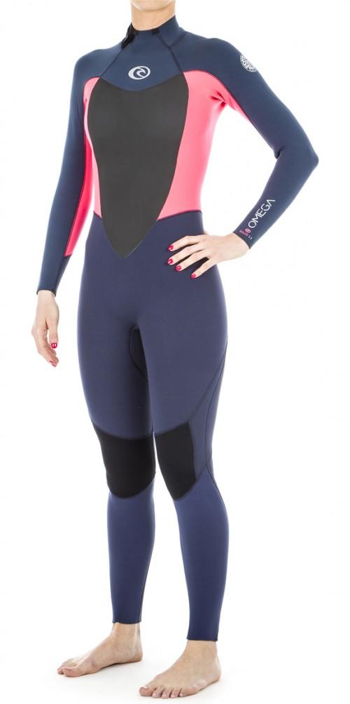 Neopreno de surf Rip Curl Women's Omega 4/3 GB BZ STMR Neon Pink