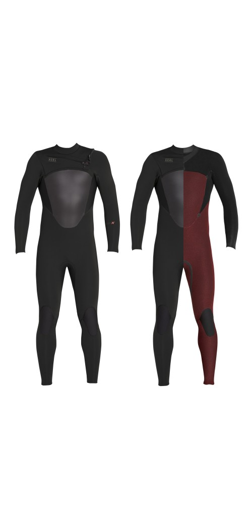 Neopreno de surf Xcel 4/3 Axis X Wetsuit CZ Black