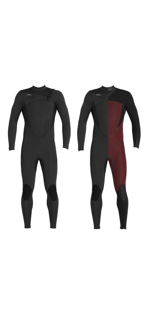 Neopreno de surf Xcel 4/3 Comp Wetsuit CZ Black
