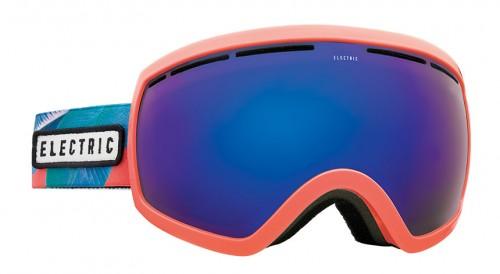Gafas de snowboard Electric EG2.5 Pink Palms Brose/Blue Chrome