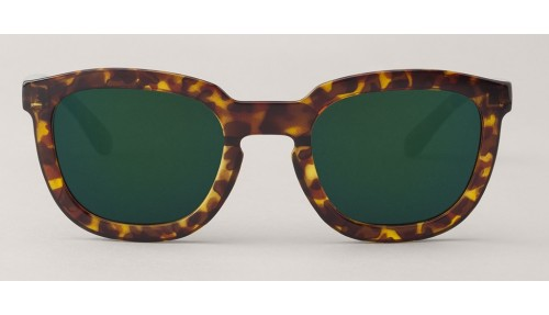 Gafas de sol Mr Boho Lemarais Cheetah Tortoise Dark Green Lenses