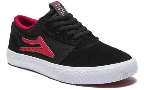 Zapatillas Lakai Griffin Kids Black/Red Suede