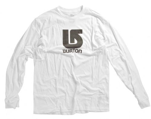 Camiseta Burton Boys Logo Vertical LS Bright White