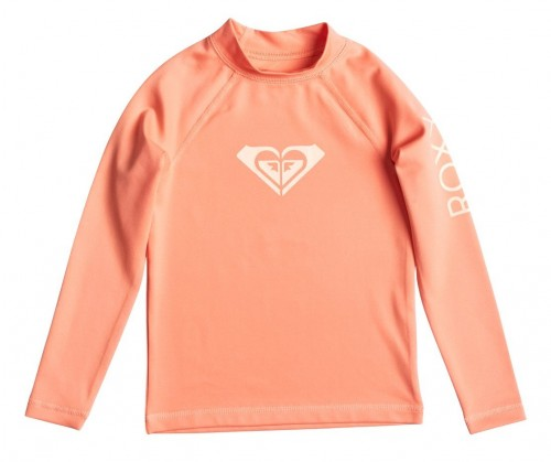 Lycras de surf Roxy Whole Hearted Rashguard LS Sunkissed Coral