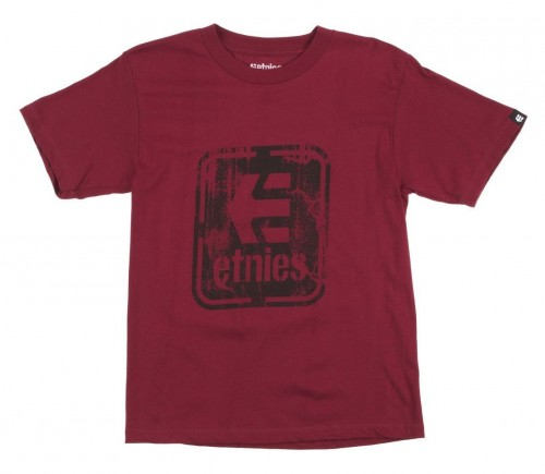 Camiseta Etnies Stamped T-Shirt Cardinal