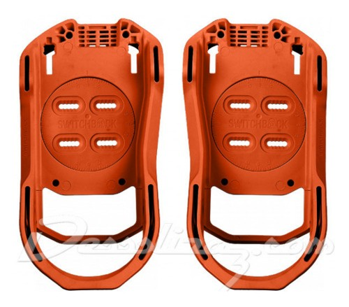 Fijaciones de snowboard Switchback Baseplate Agent Orange