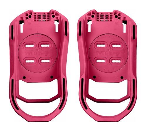 Fijaciones de snowboard Switchback Baseplate Pink Flamingo