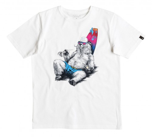 Camiseta Quiksilver Classic Local Mostly SS Tee White