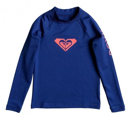 Lycras de surf Roxy Whole Hearted Rashguard LS Blue Depths