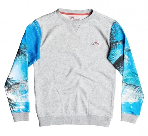 Sudadera Quiksilver Grab And Go Light Grey Heather