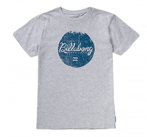 Camiseta Billabong Scriptik SS Tee Light Grey Heat
