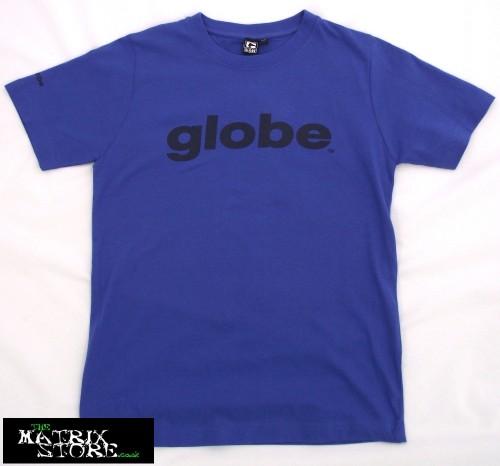 Camiseta Globe Skate Boys Global T-Shirt Royal Blue