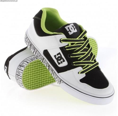 Zapatillas de bebé DC Pure White/Black/Soft Lime