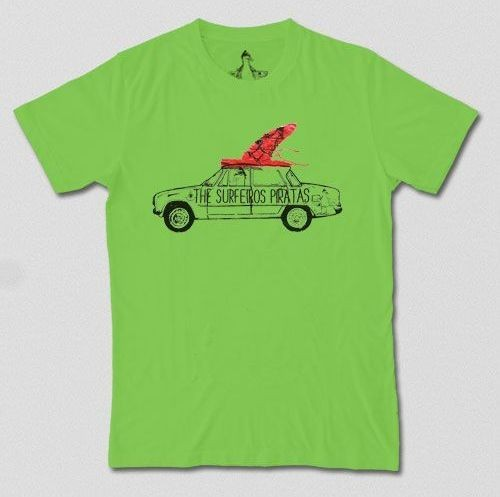 Camiseta The Surferos Piratas Coche Verde