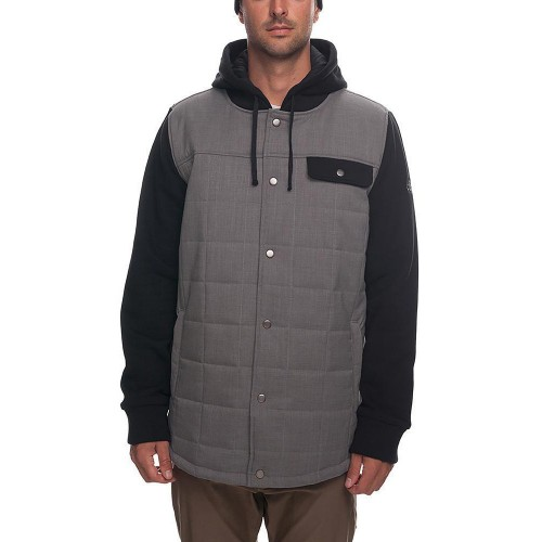 Chaqueta de snowboard 686 Bedwin Snow Insulated Jacket Charcoal Colorblock