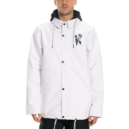 Sudadera de snowboard 686 Forest Bailey Waterproof Coaches Jacket White