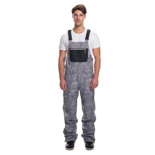 Pantalones de snowboard 686 Hot Lap Insulated Bib Charcoal Wash