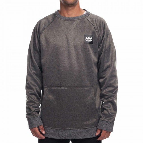 686 Knockout Bonded Fleece Crew Grey Melange