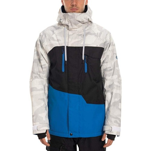 686 Men's Geo Insulated Jacket Strata Blue Colorblock