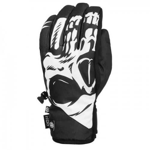 Guantes de snowboard 686 Ruckus Pipe Glove Black Reaper
