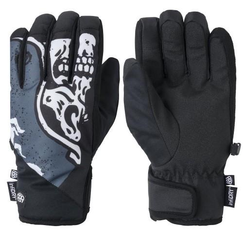 686 Ruckus Pipe Glove Goblin Blue Skull