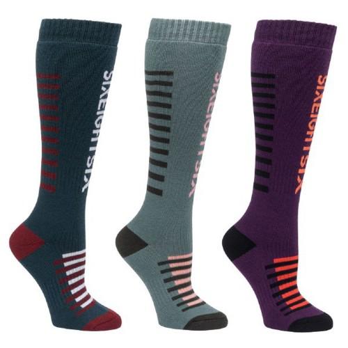 Calcetines de snowboard 686 Wmn Heater Sock 3-Pack Assorted