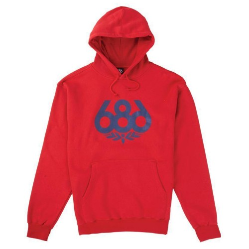 Sudadera 686 Wreath Pullover Hoody Red