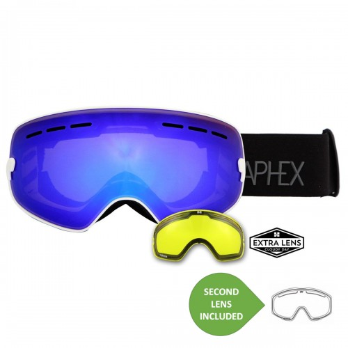 Aphex Krypton Junior White Revo Blue + Yellow Lens