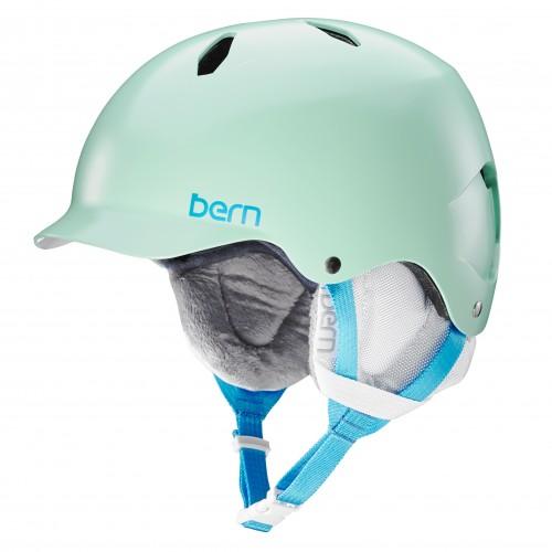 Casco de snowboard Bern Bandita Satin Mint Green/White Liner