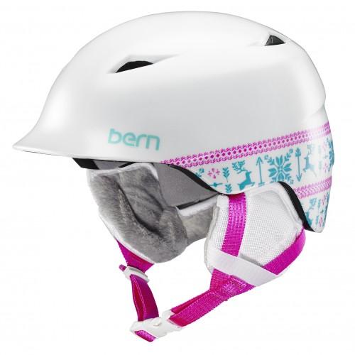 Casco de snowboard Bern Camina Satin White Fair Isle/White Liner