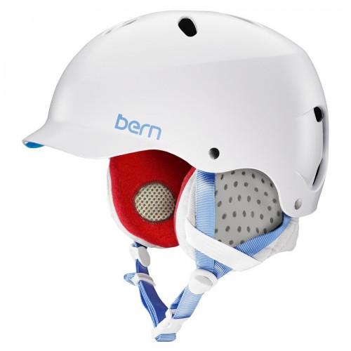 Casco de snowboard Bern Lenox Satin White/Grey Liner