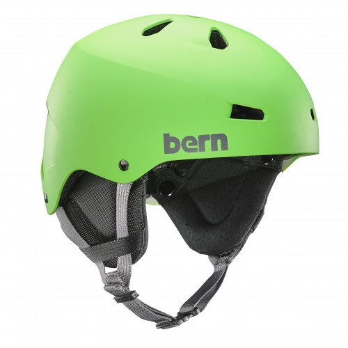 Casco de snowboard Bern Team Macon Neon Green/Black Liner