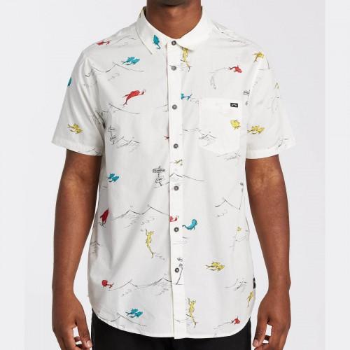 Camisa Billabong Dr Seuss One Fish Two Fish White