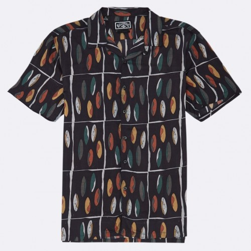 Camisa Billabong Pukas Quiver Black