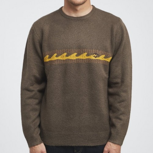 Jersey Billabong Waves Sweater Dark Earth