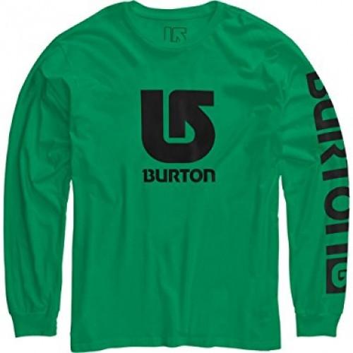 Camiseta Burton Boys Logo Vertical LS Kelly Green/Black