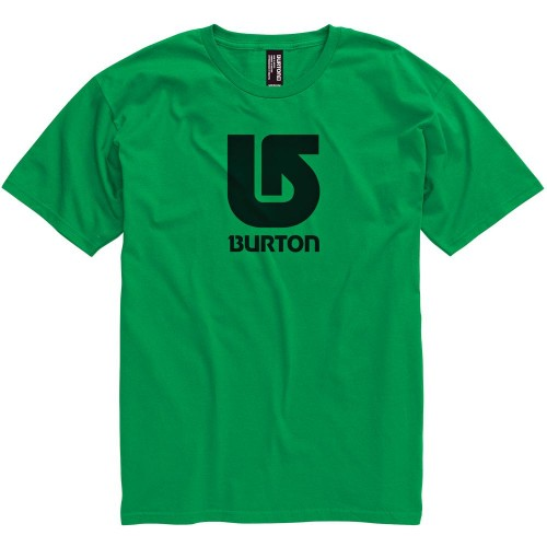 Camiseta Burton Boys Logo Vertical SS Kelly Green/Black