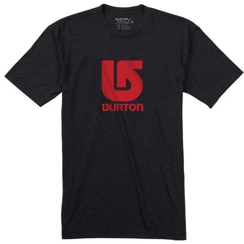 Camiseta Burton Boys Logo Vertical SS True Black/Red