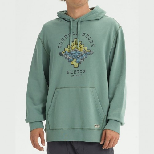 Burton Burkett Organic Pullover Hoodie Lily Pad