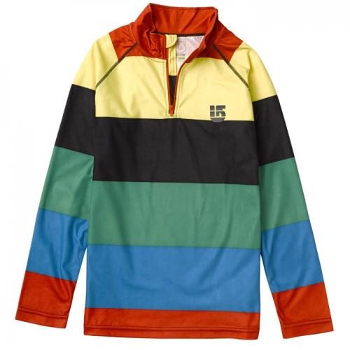 Camiseta de snowboard Burton Explorer 1/4 Zip Baselayer Top Burner Pop Stripe