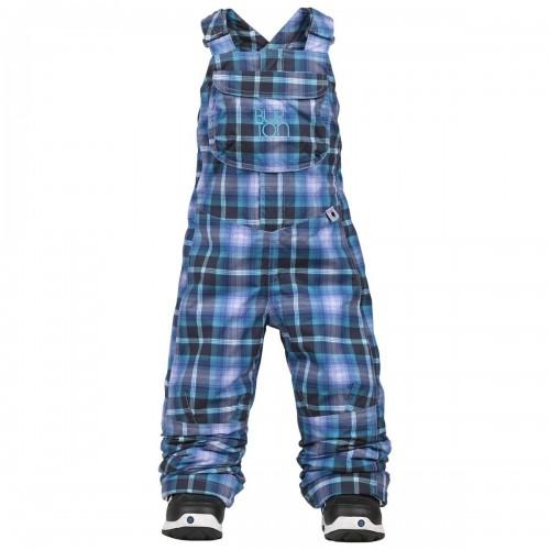 Burton Girls Mini Shred Sweetart Pants Bib Lilac Frost Plaid