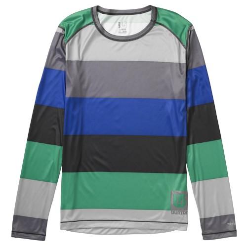 Camiseta de snowboard Burton Lightweight Crew Turf Pop Stripe