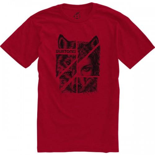 Camiseta Burton Shewolf Recycled Heather Cardinal