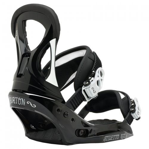 Fijaciones de snowboard Burton Stiletto Est Black