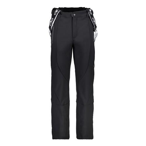 Pantalones de snowboard Campagnolo Salopette Softshell Black