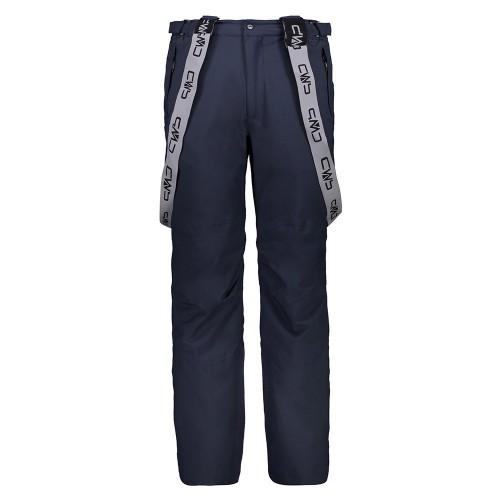 Pantalones de snowboard CMP Man Salopette Softshell Black Blue