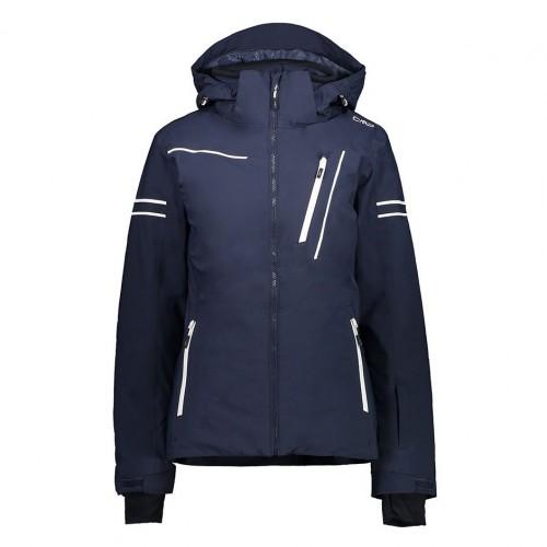 Chaqueta de snowboard CMP Woman Jacket Zip Hood Black Blue