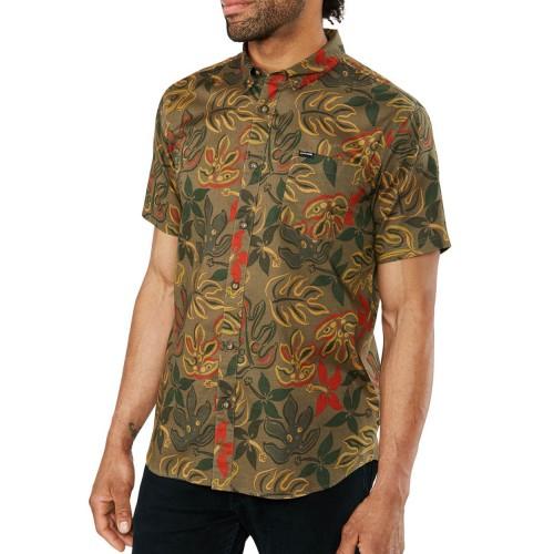 Camisa Dakine Poipu Woven Tarmac Painted Trop