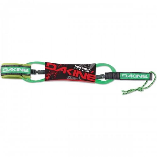 "Invento de surf Dakine Pro Comp 6'x3/16"" Surf Leash Neon Green"