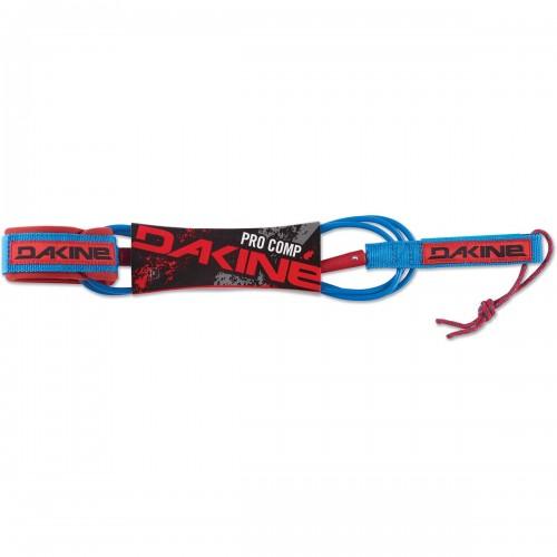 """Invento de surf Dakine Pro Comp 6'x3/16"""" Surf Leash Racing Red"""